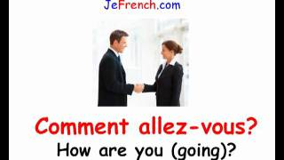 Download Learn French - French greetings Video