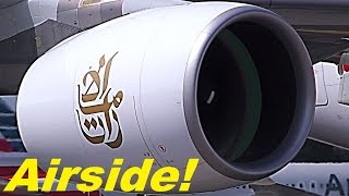 Download Airbus A380 engine start up! INCREDIBLE SOUND very close!! An object goes inside engine!! Video