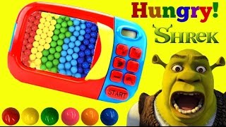 Download Learning Videos For Children, Learn Colors, Hungry Shrek eats Rainbow GUMBALLS in Magic Microwave. Video