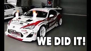 Download WE DID IT! WTF86: Toyota 86 with 4.1L R35 GTR engine kills dyno, makes flames & smashes power goals! Video