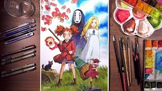 Download Mary and Ghibli friends(Ponyo, Marnie, Arrietty, Kaonashi) | drawholic Video