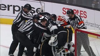 Download Flames and Kings put officials to work as both teams lose their cool late in the game Video
