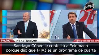 Download Santiago Cúneo le responde a Feinmann por decir que su programa es de cuarta Video