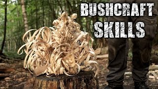 Download Bushcraft Skills - Axe & Knife Skills, Camp Setup, Fire (Overnight Camping) Video