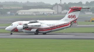 Download Conair Aviation Water Bomber Avro RJ85 Landing at Prestwick Airport Video