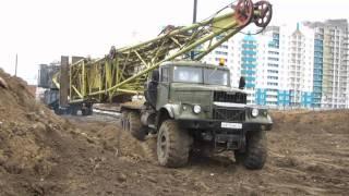 Download КрАЗ-255, перевозка башенных кранов Video