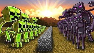 Download Minecraft | CREEPER ARMY VS ENDERMAN ARMY! (Massive Mob Battles) Video