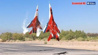 Download FANTASTIC Russian Mikoyan MiG-29 FORMATION PAIR/DUO with OVT VECTORED THRUST Demo Video