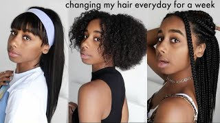 Download changing my hair everyday for a week Video