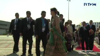 Download Arrival of Myanmar State Counsellor Aung San Suu Kyi 4/28/2017 Video