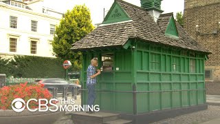 Download Inside the small green shelters that feed London's cab drivers Video