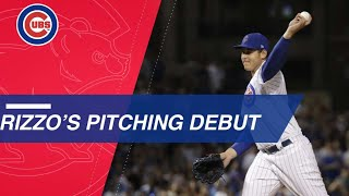 Download Anthony Rizzo makes his Major League pitching debut Video