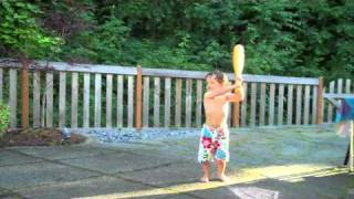 Download Seattle toddler learning to play baseball Video