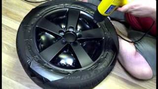 Download DIY: Wrapping Rims in Matte Black Vinyl Video