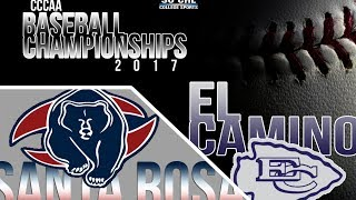 Download 2017 CCCAA Baseball Finals Game 5: Santa Rosa vs El Camino - 5/28/17 at 6pm Video