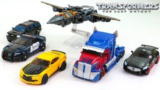 Download Transformers 5 TLK Optimus Prime Bumblebee Drift Megatron Barricade Berserker Car Vehicle Robot Toys Video