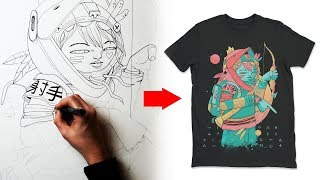 Download How I design a T Shirt - Clothing Art Tutorial Video