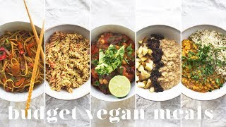 Download 5 VEGAN MEALS UNDER £1($1.50) | Budget-friendly Recipes for Beginners Video