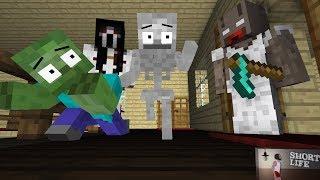 Download Monster School : HORROR GRANNY, SHORT LIFE, SLENDRINA GAME Minecraft Animation Video