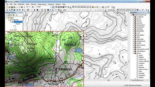 Download How to digitize automatic a scanned topographic map with ArcGIS Video
