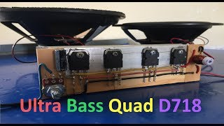 Download Extreme Powerful Bass Amplifier With Quad D718 Transistors #QuadTransD718 Video