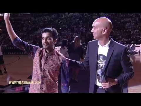 Indian Artist Vilas Nayak Rocks NBA Game in USA