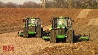 Download 2019 Field Work Underway with Two John Deere 9620RX Tractors Chisel Plowing Video