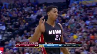 Download Hassan Whiteside Tallies Monster Triple Double Video