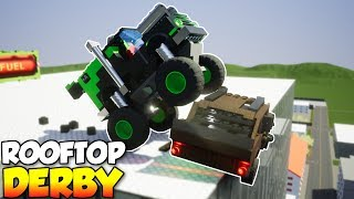Download ROOFTOP SUMO DERBY! - Brick Rigs Multiplayer Gameplay & Challenge Video