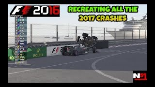 Download F1 2016 GAME: RECREATING ALL 2017 CRASHES (MID SEASON) Video