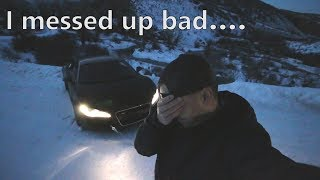Download Drove my Audi R8 into the ditch, IT GOT WORSE quickly... *A Bad Situation* Video