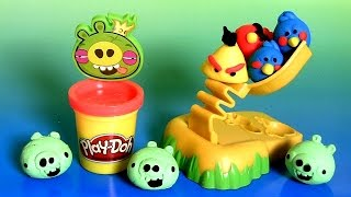 Download Play Doh Angry Birds Build 'n Smash Game From Rovio Unboxing PlayDough by FunToys Video