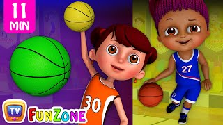 Download Learn Colors with Basketball - Kids Play with Colorful Playing Balls | ChuChu TV Funzone Games Video