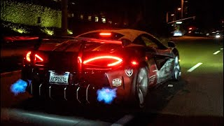Download THE BABY MCLAREN P1 GTR SHOOTS FLAMES! Video