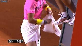Download Crazy Changeover Moments of 2016 Starring Serena, Grigor Dimitrov, Roger Federer Video