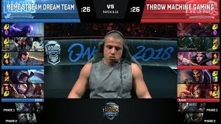 Download Meme Stream Dream Team vs Throw Machine Gaming | Streamer Show Match at S8 NA LCS 2018 Summer Finals Video