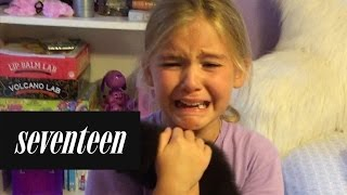Download Little Girl is Surprised With a Brand New Kitten Video