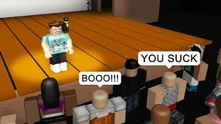 Download THEY BOO'D ME OFF STAGE! - Roblox Roleplay Video