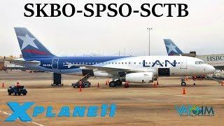 Download X-Plane 11   Semi Long Hauls in the NEW a319!!   SKBO-SPSO-SCTB   A319   VATSIM   World Tour Ep.6 Video