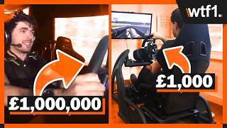 Download £1,000 vs £100,000 vs £1,000,000 Racing Simulators Video