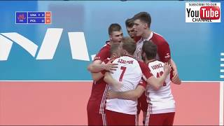 Download Usa - Poland men's volleyball nations league 2018 Final Six - All points full match highlights Video
