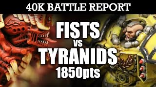 Download Imperial Fists vs Tyranids 40K Battle Report AIR SUPERIORITY! 7th Ed 1850pts | HD Video