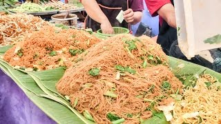 Download Bangkok Street Food. Cooking Five Types of Noodles. Thailand Video