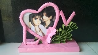 Download 3D Origami Heart Shaped Photoframe Video