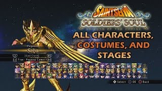 Download Saint Seiya Soldiers Soul All Characters, Costumes, and Stages Video