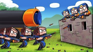 Download Minecraft - NERF WAR BASE CHALLENGE: Blue vs Orange! (NERF WAR MODS) Video
