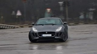 Download Jaguar F Type donuts and acceleration sound! Video