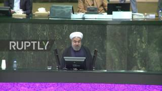 Download Iran: MPs chant 'Down with USA' as Rouhani condemns Senate sanction renewal Video