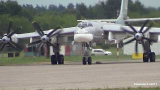 Download TU-95 ТУ-95 Engine start, taxi and takeoff from MAKS-2017 Video