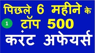 Download Last 6 Months Current Affairs 2019 | Top 500+ Current Affairs Questions Video